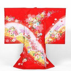 No18 赤地に毬と桜