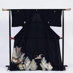 ht-14 ひとえの留袖 松笹鶴