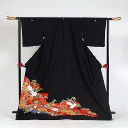 ht-No6   ひとえの留袖 (ゆったりサイズ)鶴松
