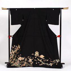 ht-No8 ひとえの留袖(ゆったりサイズ)菱花
