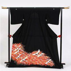 ht-9 ひとえの留袖 穂に鶴