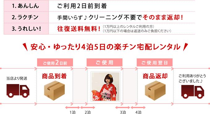 安心・ゆったり4泊5日の楽チン宅配レンタル!