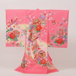 No11 ピンク地に毬と蝶