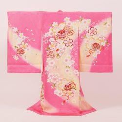 No13 ピンク地に毬と桜