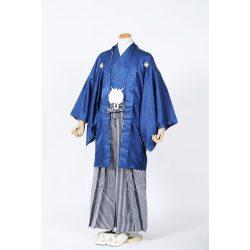 男紋付-紺 色紋付袴セット