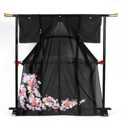 st-13 絽留袖 桜と椿