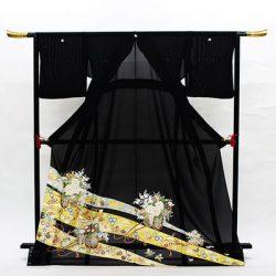 st-30 絽留袖  熨斗に花車