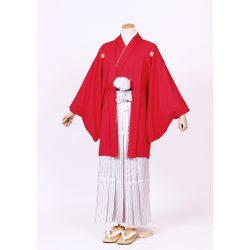 赤色紋付 羽織袴セット