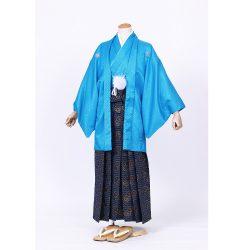 青色紋付 羽織袴セット