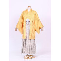 黄色紋付 羽織袴セット