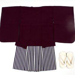 濃紫無地 3歳羽織袴セット
