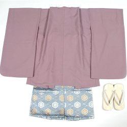薄紫無地 5歳羽織袴セット