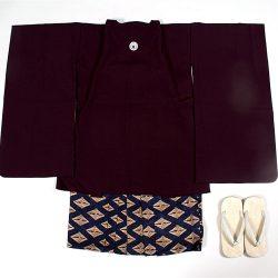 濃紫無地 5歳羽織袴セット