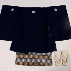 紺無地 3歳羽織袴セット