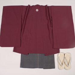 明紫無地 5歳羽織袴セット