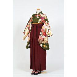 kf-156 深緑に桜,菊,牡丹