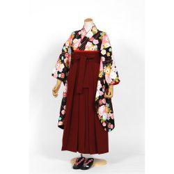 kfs-67 黒色に牡丹,桜,菊