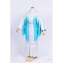 水色ぼかし紋付羽織袴セット