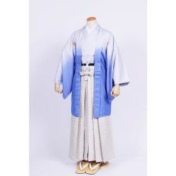 青ぼかし紋付 羽織袴セット
