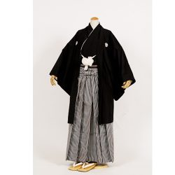 黒紋付 羽二重羽織袴セット