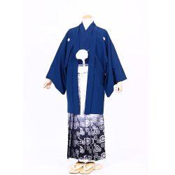 青色紋付き  羽織袴セット