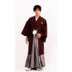 茶色紋付き  羽織袴セット