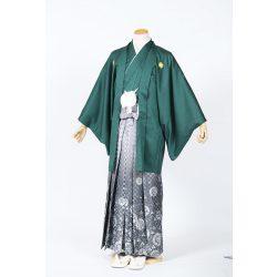 濃い緑紋付 羽織袴セット