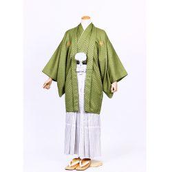 若草色紋付 羽織袴セット