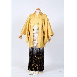 黄(金)色紋付 羽織袴セット