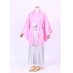 ピンク色紋付 羽織袴セット