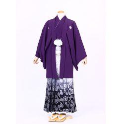 紫色紋付 羽織袴セット