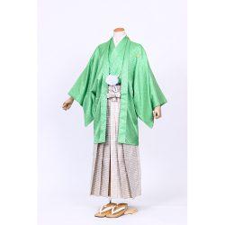 黄緑色紋付 羽織袴セット