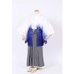 男の子・羽織袴 紺ぼかし羽織袴セット 小学生用サイズ