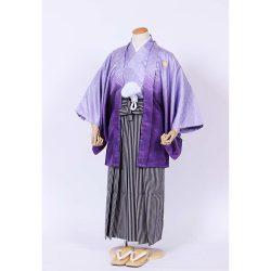男の子・羽織袴 紫ぼかし羽織袴セット 小学生用サイズ
