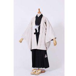 男の子・アイボリー羽織 刺繍袴セット 小学生用サイズ