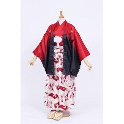 男の子・赤黒ぼかし・龍袴セット 小学生用サイズ