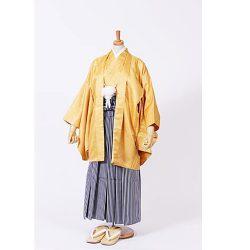 男の子・羽織袴 黄色 小学生専用サイズ