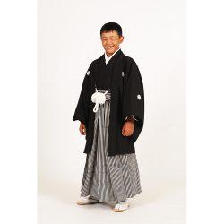 男の子・羽織袴 黒 小学生専用サイズ