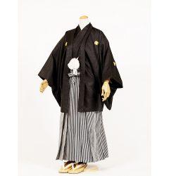 男の子・羽織袴 黒 大人兼用サイズ