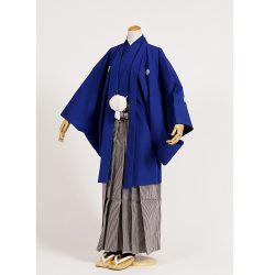 男の子・羽織袴 濃い青 大人兼用サイズ