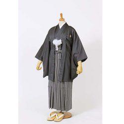 男の子・羽織袴 グレー 小学生専用サイズ