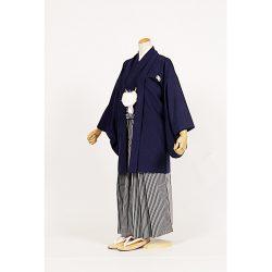 男の子・羽織袴 濃紺 小学生専用サイズ