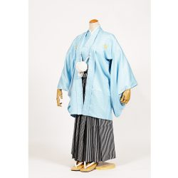 男の子・羽織袴 水色 小学生専用サイズ