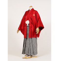 男の子・羽織袴 赤 大人兼用サイズ