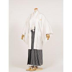 男の子・羽織袴 白 大人兼用サイズ