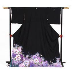 t-48 高級刺繍紫牡丹