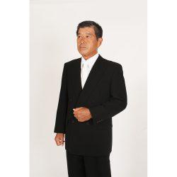 男性略礼服 黒ダブルスーツ