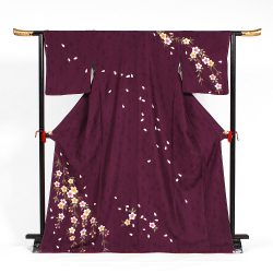 H-91 濃紫に桜柄