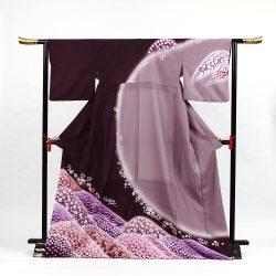 H-105 濃い紫におぼろ染風